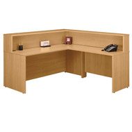 Bush Business Furniture Series C Reception Desk Light Oak without Pedestals - OAKPackageC