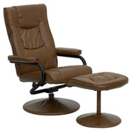Flash Furniture Contemporary Palimino Leather Recliner and Ottoman - BT-7862-PALIMINO-GG
