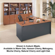 Bush Business Furniture Series C Package L-Shaped Straight Desk - SC12A
