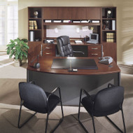 Bush Business Furniture Series C Package Executive Bowfront Desk Hansen Cherry - HCPackageH
