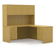 Mayline Aberdeen Executive L-Shaped Desk Work Station Maple - AT33-LMA