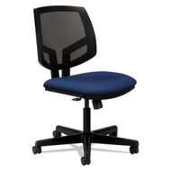 HON Volt Series Mesh Back Task Chair with Sychro-Tilt without Arms Navy Fabric - 5713GA90T