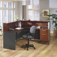 Bush Business Furniture Series C Reception Desk L-Shaped Hansen Cherry - HCPackageJ
