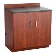 Safco Hospitality Base Cabinet, Two Door, Mahogany/Rustic Slate - 1702MH