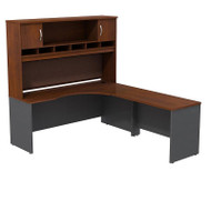 "Bush Business Furniture Series C  Executive L-Shaped Desk 72"" Right Hansen Cherry - SRC002HCR"