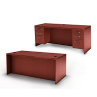 Mayline Aberdeen Executive Desk & Credenza Package Cherry - AT1-LCR