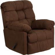 Flash Furniture Contemporary Sienna Chocolate Microfiber Rocker Recliner - HM-400-SIENNA-CHOCOLATE-GG