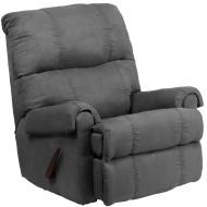 Flash Furniture Contemporary Flatsuede Graphite Microfiber Rocker Recliner - WM-8700-113-GG