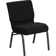 Flash Furniture Hercules Series 21 Extra Wide Black Dot Fabric Chair - FD-CH0221-4-GV-S0806-GG