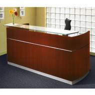 Mayline Napoli Veneer Reception Station Desk Sierra Cherry - NRS-CRY