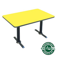 "Correll Bar and Cafe Breakroom Table Rectangle with T-Base 30""x60"" - BTT3060"