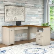 Bush Fairview L-Shaped Desk Antique White - WC53230-03K