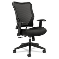 Basyx by HON Black Mesh High-Back Swivel/Tilt Work Chair - VL702MM10