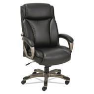 Alera Veon Series Executive High-Back Leather Chair with Coil Spring Cushioning Black - VN4119