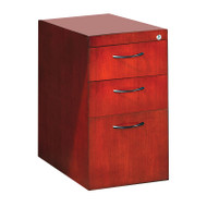 Mayline Napoli Veneer Pedestal File for Credenza or Return 3-Drawer Sierra Cherry, Assembled - CBBFC-CRY