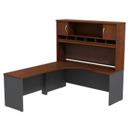 "Bush Business Furniture Series C Executive L-Shaped Desk 72"" Left Hansen Cherry - SRC002HCL"