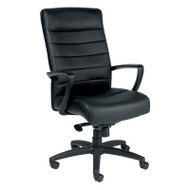 Eurotech by Raynor Manchester High-Back Black Leather Chair - LE150-BLK