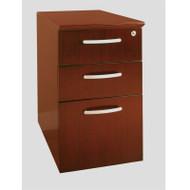 Mayline Napoli Veneer Pedestal, 2 Box & 1 File Drawer Sierra Cherry ASSEMBLED - NBBF-CRY