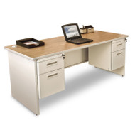 Marvel Double Pedestal Steel Desk 72 x 36 - PDR7236DP
