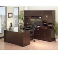 Bush Business Furniture Series C Package Executive U-Shaped Desk Mocha Cherry - MOCPackageB