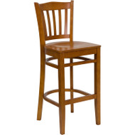Flash Furniture Wood Vertical Back Barstool with Cherry Finish and Cherry  Wood Seat - XU-DGW0008BARVRT-CHY-GG