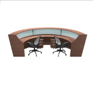 OFM Marque Triple Plexi-Reception Station with Mobile Files and Chairs Package - MARQUE6