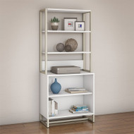 Kathy Ireland by Bush Method Collection Bookcase with Hutch White - MTH013WH