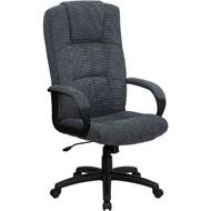 Flash Furniture High Back Gray Fabric Executive Office Chair - BT-9022-BK-GG