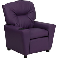 Flash Furniture Contemporary Kid's Recliner with Cup Holder Purple Vinyl - BT-7950-KID-PUR-GG