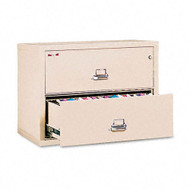 FireKing 2-Drawer Lateral Fire and Impact Resistant Letter/Legal File 37 1/2W x 22 1/8D - 23822CPA