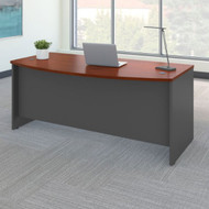 "Bush Business Furniture Series C Desk Bowfront Hansen Cherry 72""W x 36""D - WC24446"