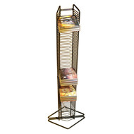 Atlantic Onyx 80 CDs Tower Wall Mounted or Free Standing In Matte Black - 1248