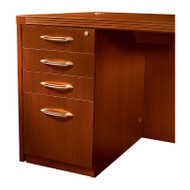 Mayline Aberdeen Pedestal File Assembled for Desk B/B/B/F Cherry Finish - APBBF26-LCR