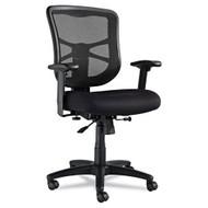 Alera Elusion Series Mesh Mid-Back Swivel / Tilt Chair, Black - EL42BME10B