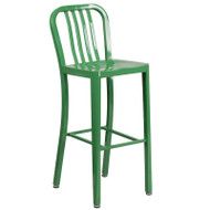 """Flash Furniture Green Metal Indoor-Outdoor Barstool 30""""H (2-Pack) - CH-61200-30-GN-GG"""