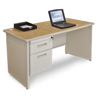Marvel Single Pedestal Steel Desk 48 x 30 - PDR4830SP