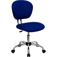 Flash Furniture Mid-Back Blue Mesh Task Chair with Chrome Base - H-2376-F-BLUE-GG