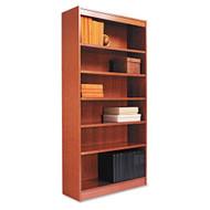 Alera Premium Grade Veneer 6 Shelf Bookcase Medium Cherry Finish - BCS67236MC