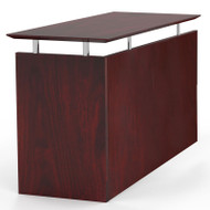 Mayline Medina Laminate Executive Straight Return Mahogany - MNRT-LMH