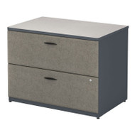"Bush Business Furniture Series A Lateral File Cabinet in Slate and White Spectrum 36""W Assembled - WC84854PSU"
