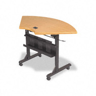 Balt Flipper Training Table 46 x 24 Quarter Round Teak - 89815