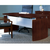 "Mayline Napoli Veneer Executive Desk 72"" Mahogany - ND72"