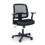 OFM Essentials Mesh Back Chair with Adjustable Arms - E3035-BLK