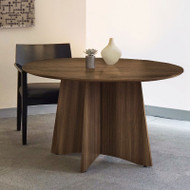 Mayline Medina Laminate Conference Table Round Textured Brown Sugar Finish - MNCR48TBS