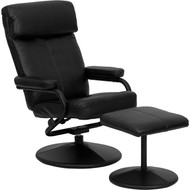 Flash Furniture Contemporary Black Leather Recliner and Ottoman - BT-7863-BK-GG