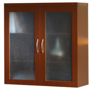Mayline Aberdeen Glass Display Cabinet Cherry Finish - AGDC-LCR