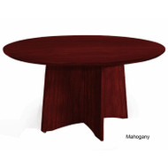 Mayline Medina Laminate Conference Table Round Mahogany - MNCR48-LMH