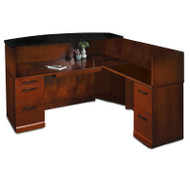 Mayline Sorrento Reception Station Desk with Granite Counter Top Right Hand Return - SRCSRM-SCR