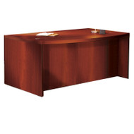 "Mayline Aberdeen Executive Desk Bowfront 66"" Cherry Finish - ABD6642-LCR"