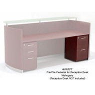 Mayline Medina Laminate Pedestal Drawer for Reception Desk (File/File) Assembled Mahogany - MNRFF-LMH